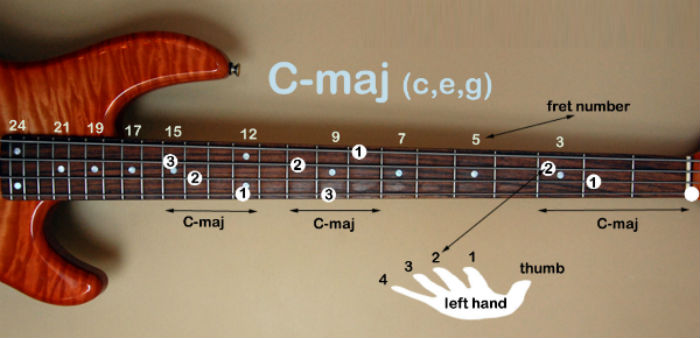Learning Chords of Bass Guitar