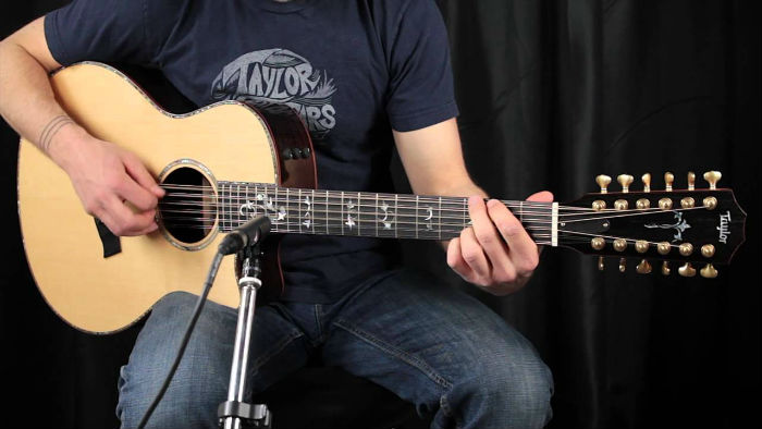Playing a 12 String Acoustic Guitar
