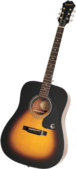 Epiphone DR-100 Acoustic Guitar, Ebony - Best Beginner Guitar