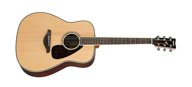 Yamaha FG830 Solid Top Folk Guitar, Natural