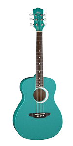 Luna Aurora Borealis 3/4 Size MINI Acoustic Guitar Pink w/ Stand and Tuner - Best Guitar for Kids
