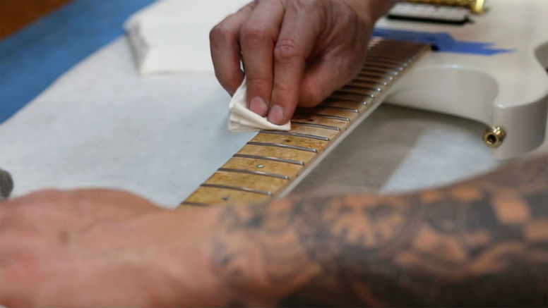 Clean the Fretboard and Neck