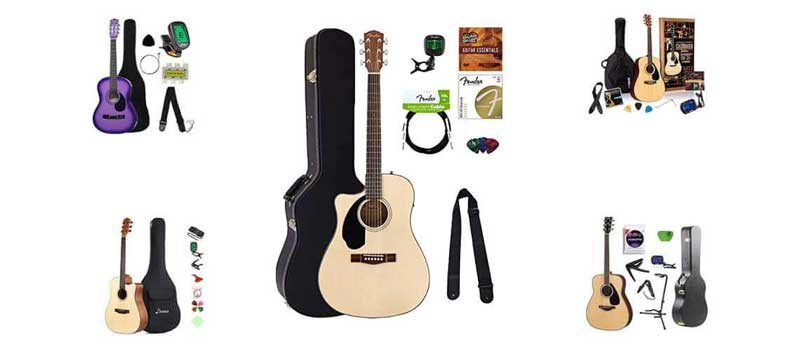 Left Handed Acoustic Guitar Starter Pack And Starter Kit