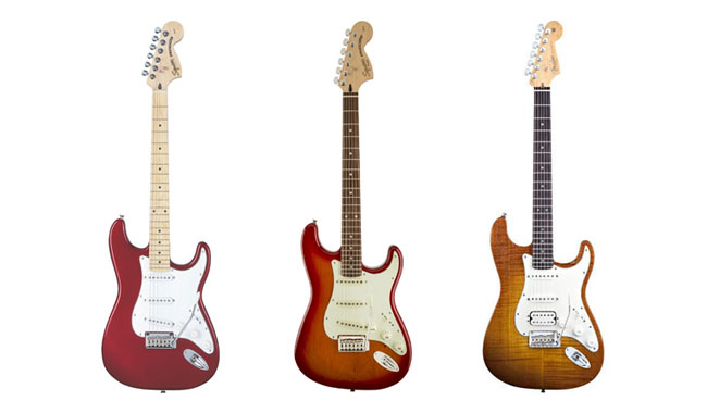 Colors of Squier Stratocaster