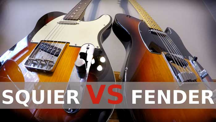 Difference between a Squier and a Fender