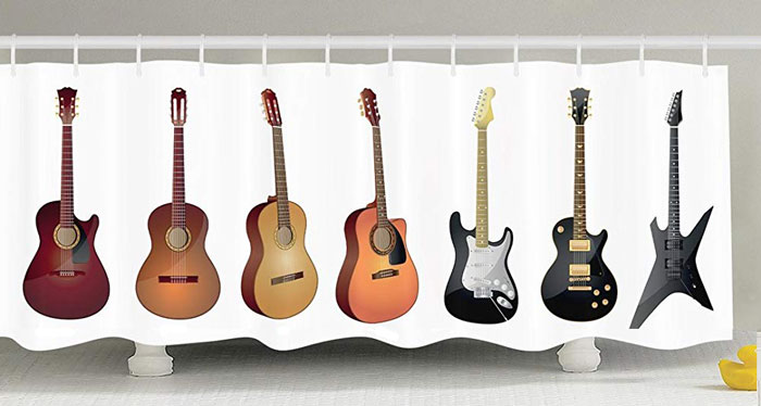 Personalize Décor Guitar Curtain