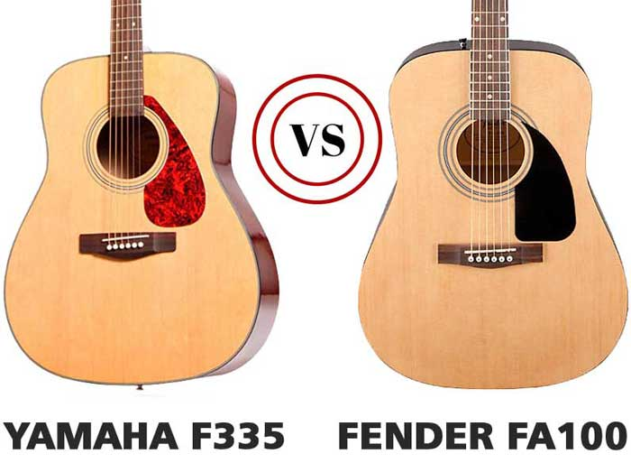 The Yamaha F335 vs. Fender FA100