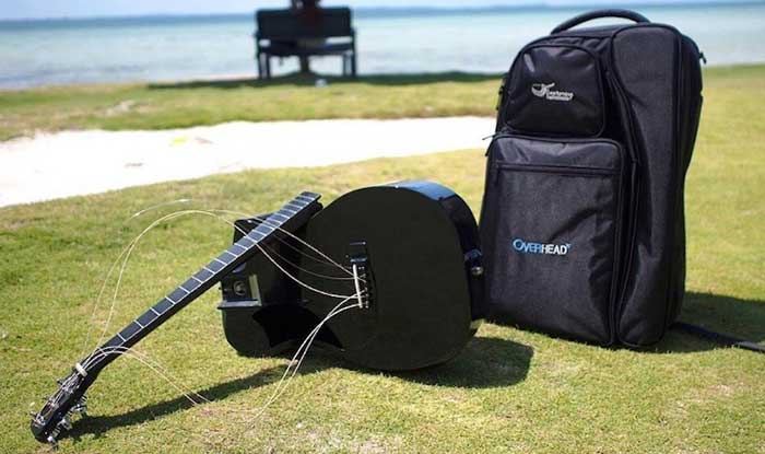 the carbon fiber guitar while traveling