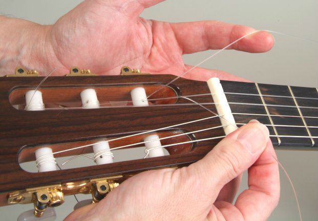 Pro tip of using ball-end nylon strings