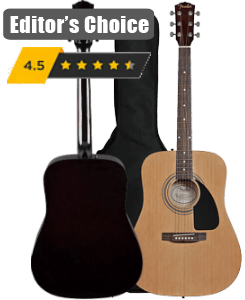 Fender Acoustic Guitar Bundle with Gig Bag and Much More
