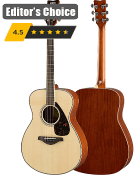 Yamaha FG830 Solid Top Acoustic Guitar, Natural