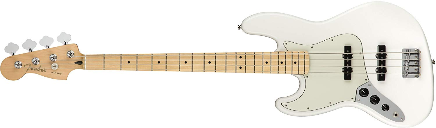 Fender Player Jazz Electric Bass Guitar - Maple LH Fingerboard - Polar White